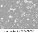 white snowflakes falling winter ... | Shutterstock .eps vector #772668655