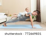 health and fit concept. young... | Shutterstock . vector #772669831