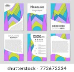 abstract vector layout... | Shutterstock .eps vector #772672234