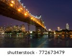 new york by night   midtown of... | Shutterstock . vector #772673479
