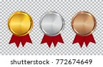 champion gold  silver and...   Shutterstock .eps vector #772674649