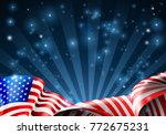 an american flag patriotic or... | Shutterstock .eps vector #772675231