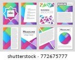abstract vector layout...   Shutterstock .eps vector #772675777