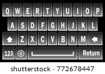 virtual black white keyboard...