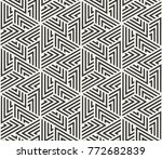 vector seamless lines pattern.... | Shutterstock .eps vector #772682839