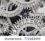 macro photo of tooth wheel... | Shutterstock . vector #772683445