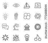 thin line icon set   bulb  eye  ... | Shutterstock .eps vector #772688044