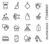 thin line icon set   uv cream ... | Shutterstock .eps vector #772688065