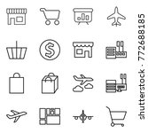 thin line icon set   shop  cart ... | Shutterstock .eps vector #772688185