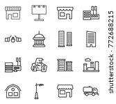 Thin Line Icon Set   Shop ...