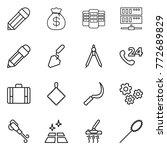 thin line icon set   pencil ... | Shutterstock .eps vector #772689829