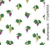 grape branch seamless pattern....   Shutterstock .eps vector #772690555