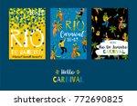 brazil carnival. vector... | Shutterstock .eps vector #772690825