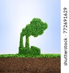 grass growing in the shape of a ... | Shutterstock . vector #772691629
