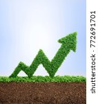 grass growing in the shape of... | Shutterstock . vector #772691701