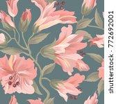 floral seamless pattern. flower ... | Shutterstock .eps vector #772692001