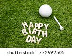 happy birthday to golfer | Shutterstock . vector #772692505