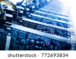circut boards standing in a row.... | Shutterstock . vector #772693834