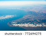 airplane view of north africa... | Shutterstock . vector #772694275
