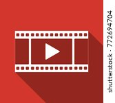 play video icon isolated with...