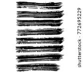 brush stroke set. texture. | Shutterstock .eps vector #772695229