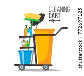 cleaning cart vector. classic... | Shutterstock .eps vector #772697125