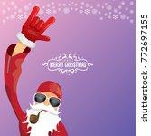 vector dj rock n roll santa... | Shutterstock .eps vector #772697155