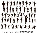 Girl Black Silhouettes Taking...