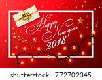 happy new year background with... | Shutterstock .eps vector #772702345