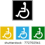 handicap signage design ... | Shutterstock .eps vector #772702561