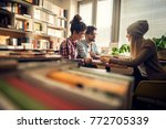 concept of education  library ... | Shutterstock . vector #772705339