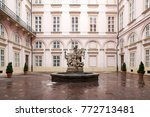 statue of knight st. george  ... | Shutterstock . vector #772713481