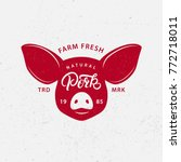 pork logo  label  print  poster ... | Shutterstock .eps vector #772718011