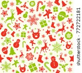 christmas wrapping paper with... | Shutterstock .eps vector #772722181