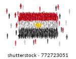 vector egypt state flag formed... | Shutterstock .eps vector #772723051