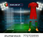 portugal soccer jersey kit with ... | Shutterstock .eps vector #772723555