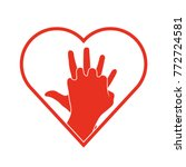 cpr icon. medical clipart... | Shutterstock .eps vector #772724581