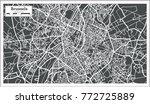brussels belgium map in retro... | Shutterstock .eps vector #772725889