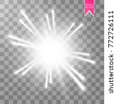 glow light effect. starburst... | Shutterstock .eps vector #772726111