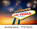 famous las vegas welcome sign... | Shutterstock . vector #77272621