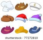 Set Of Various Hats  Santa...