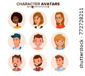 people avatars collection... | Shutterstock . vector #772728211