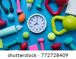 time for exercising clock and... | Shutterstock . vector #772728409