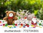 wooden calendar show date of... | Shutterstock . vector #772734301