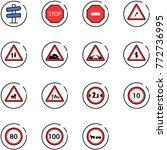 line vector icon set   road... | Shutterstock .eps vector #772736995
