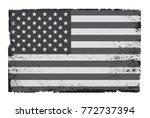 grunge american flag.vector...   Shutterstock .eps vector #772737394