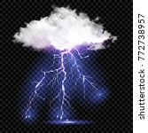 realistic vector cloud and...   Shutterstock .eps vector #772738957