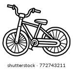 bicycle   cartoon vector and... | Shutterstock .eps vector #772743211
