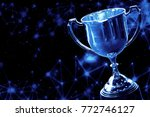 trophy award championship with... | Shutterstock . vector #772746127