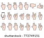 hand gesture icon big set ... | Shutterstock .eps vector #772749151
